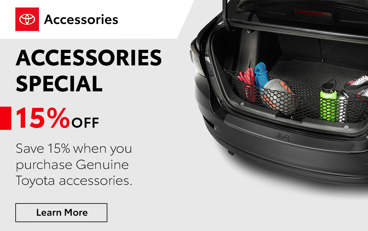 Toyota Accessories Special Coupon