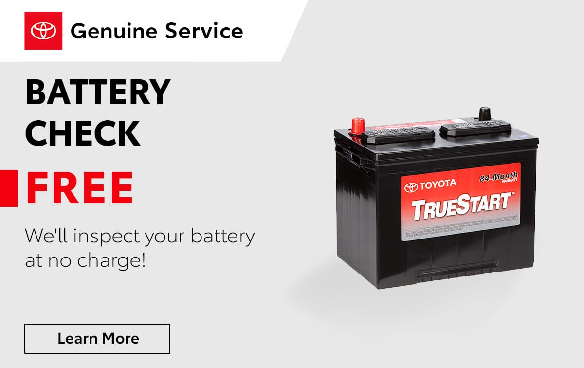 Toyota Battery Check Special Coupon