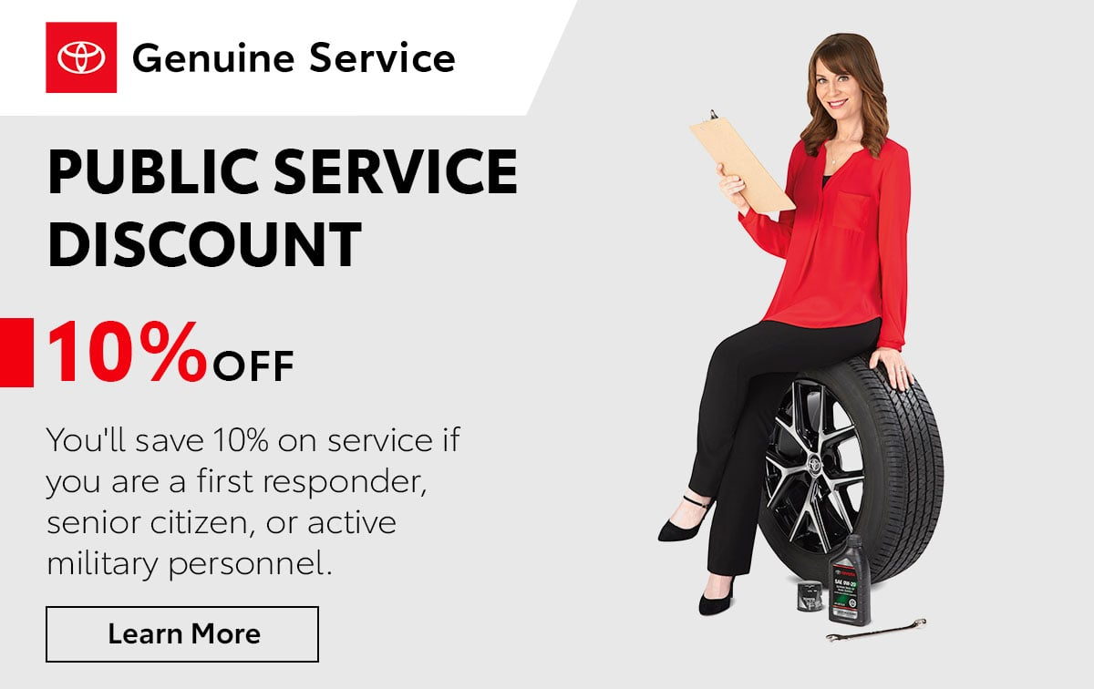Toyota Public Service Discount Special Coupon