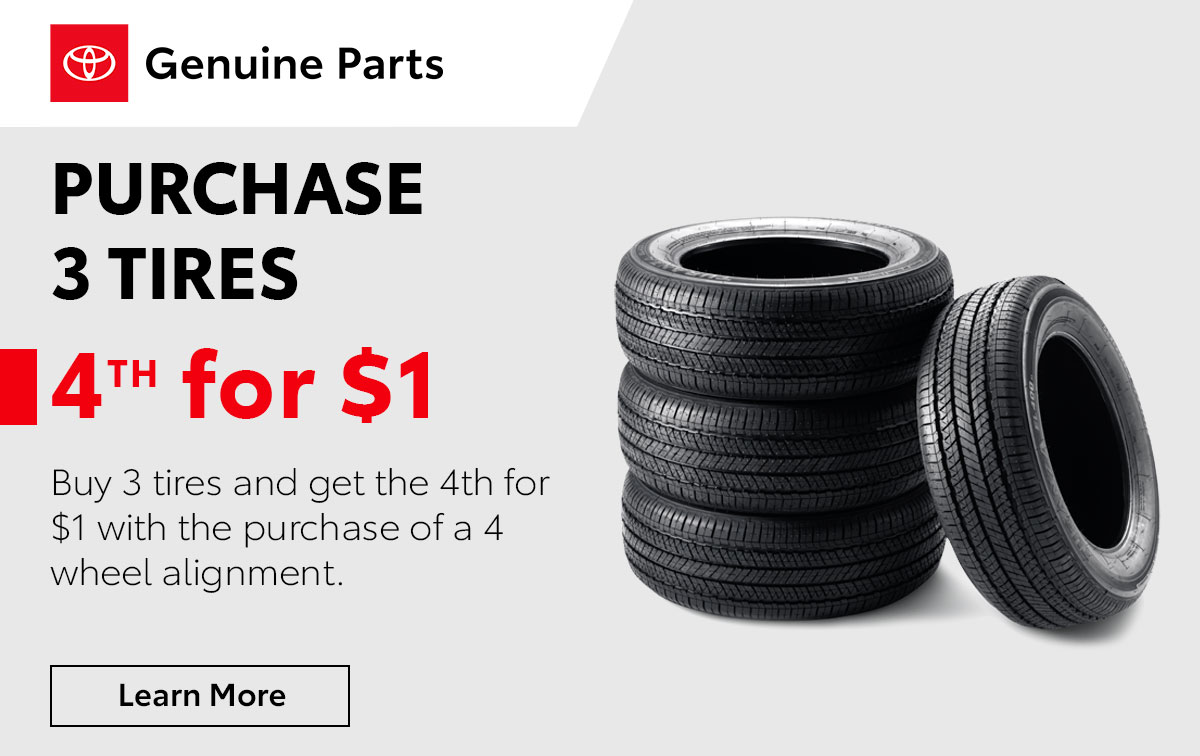 Toyota Buy 3 Tires Special Coupon