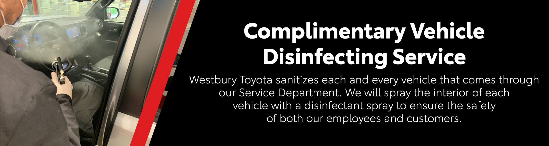Toyota Vehicle Disinfecting Service