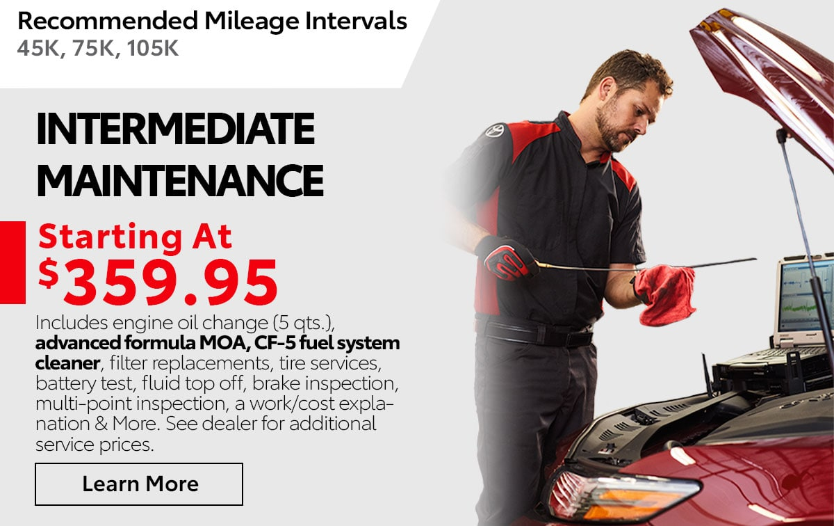 Toyota Intermediate Maintenance Service Special Coupon