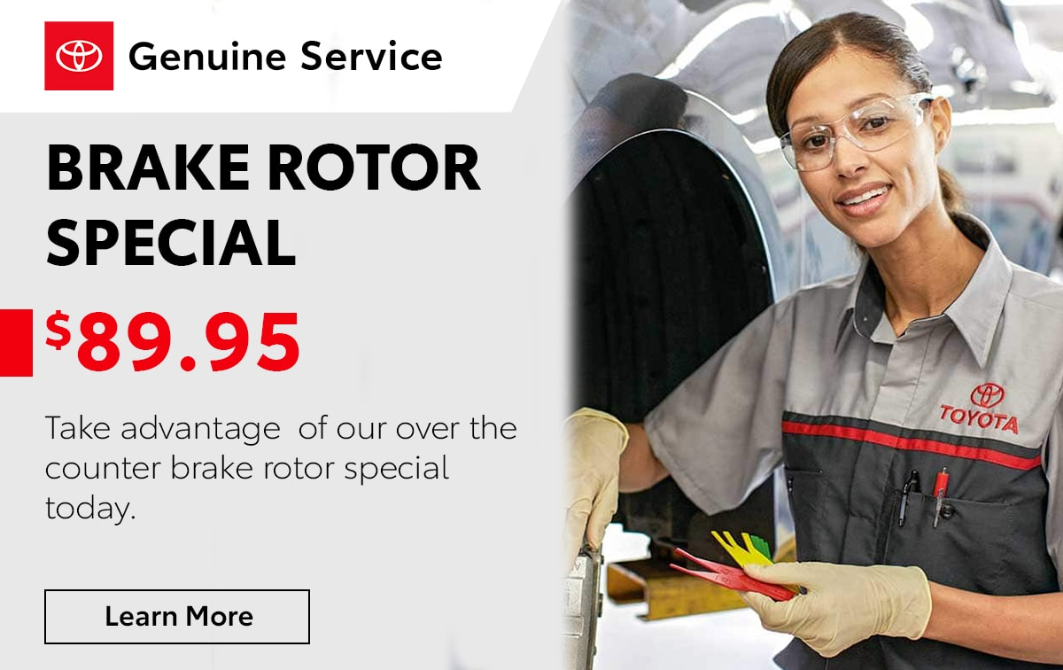 Toyota Brake Rotor Service Special Coupon