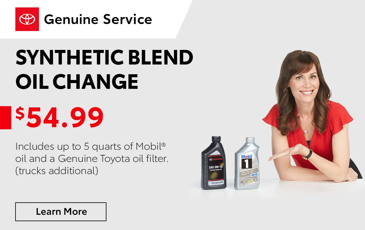Toyota Synthetic Blend Oil Change Special Coupon