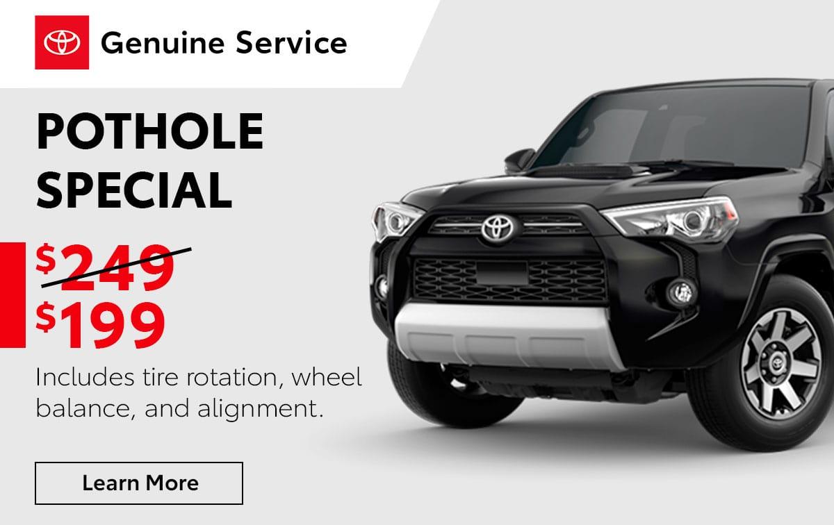 Toyota Pothole Service Special Coupon