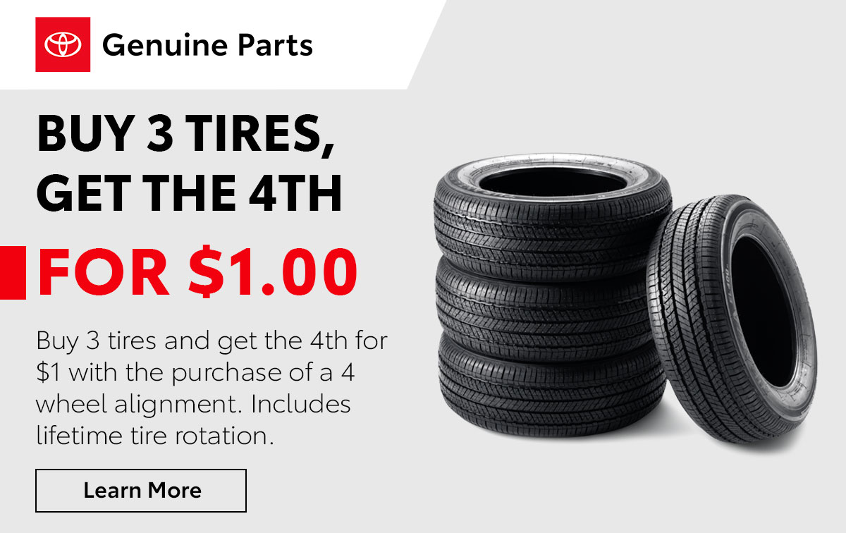 Toyota Tire Purchase Service Special Coupon