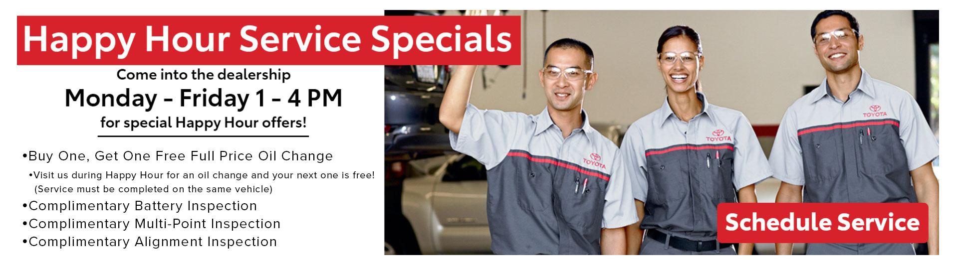 Toyota Happy Hour Specials