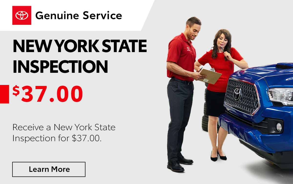 Toyota New York State Inspection Service Special Coupon