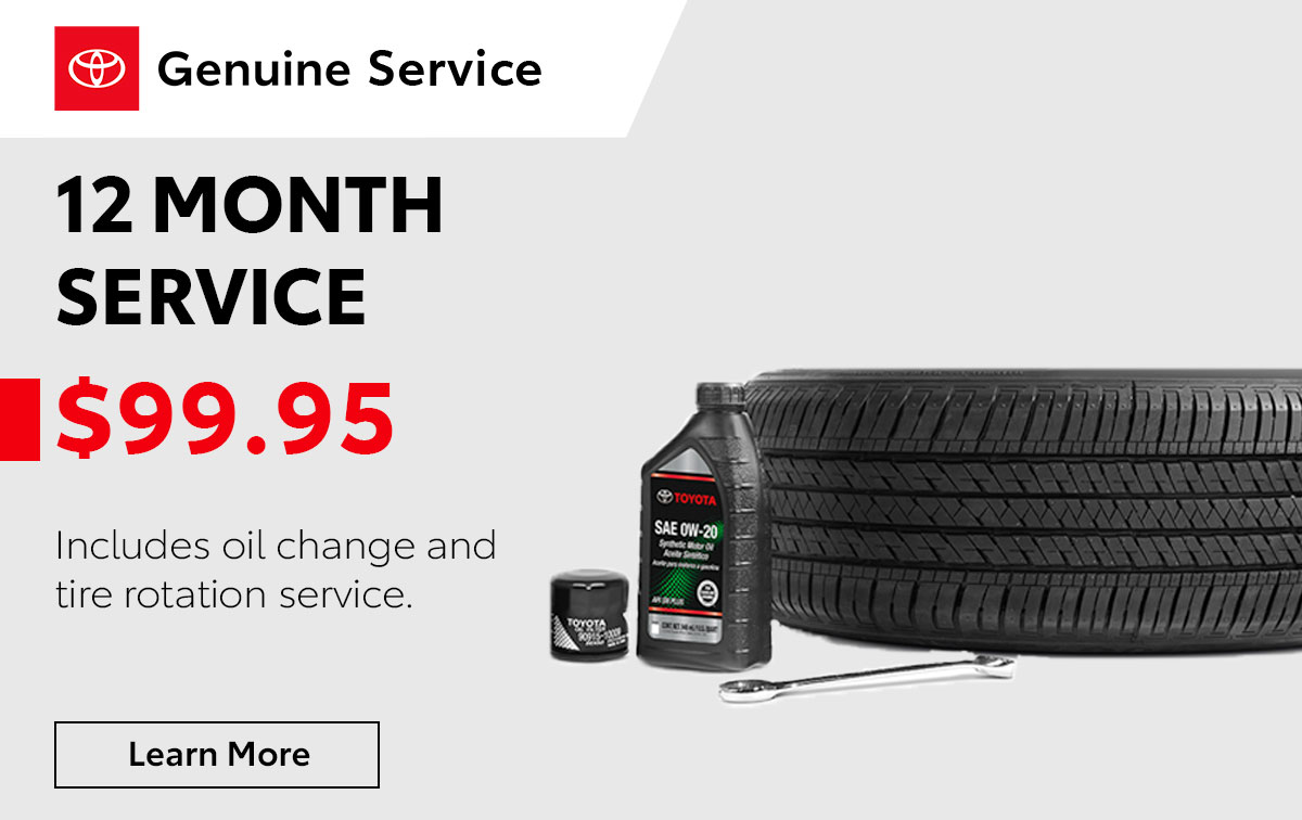 Toyota 12 Month Service Special Coupon