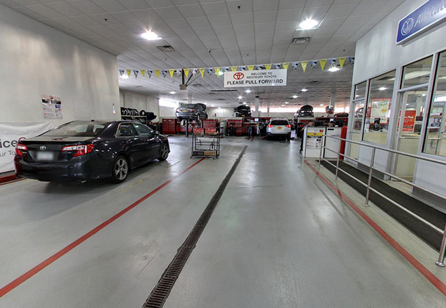 Westbury Toyota Service Lane