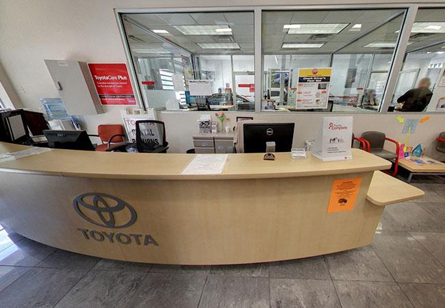 Westbury Toyota Service Advisor Desk