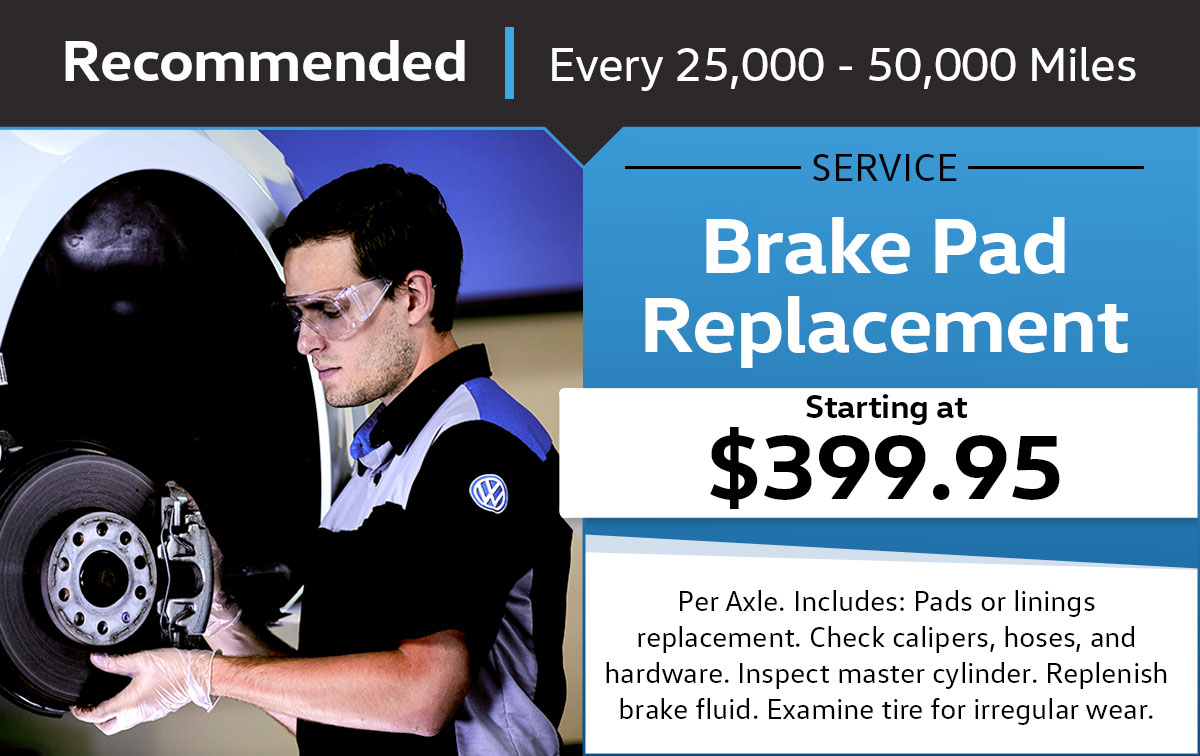 Volkswagen Brake Pad Replacement Service Service & Parts Specials