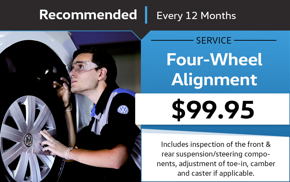 Volkswagen Four-Wheel Alignment Service & Parts Specials