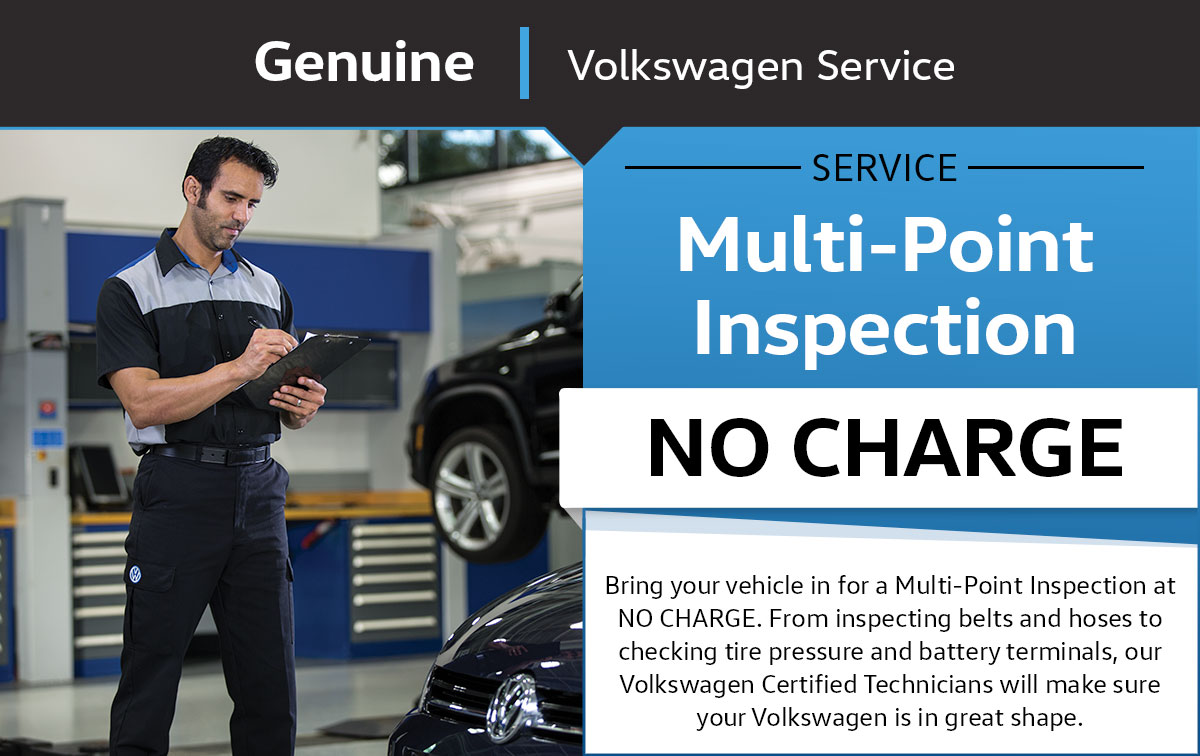 Volkswagen Multi-Point Inspection Service & Parts Specials