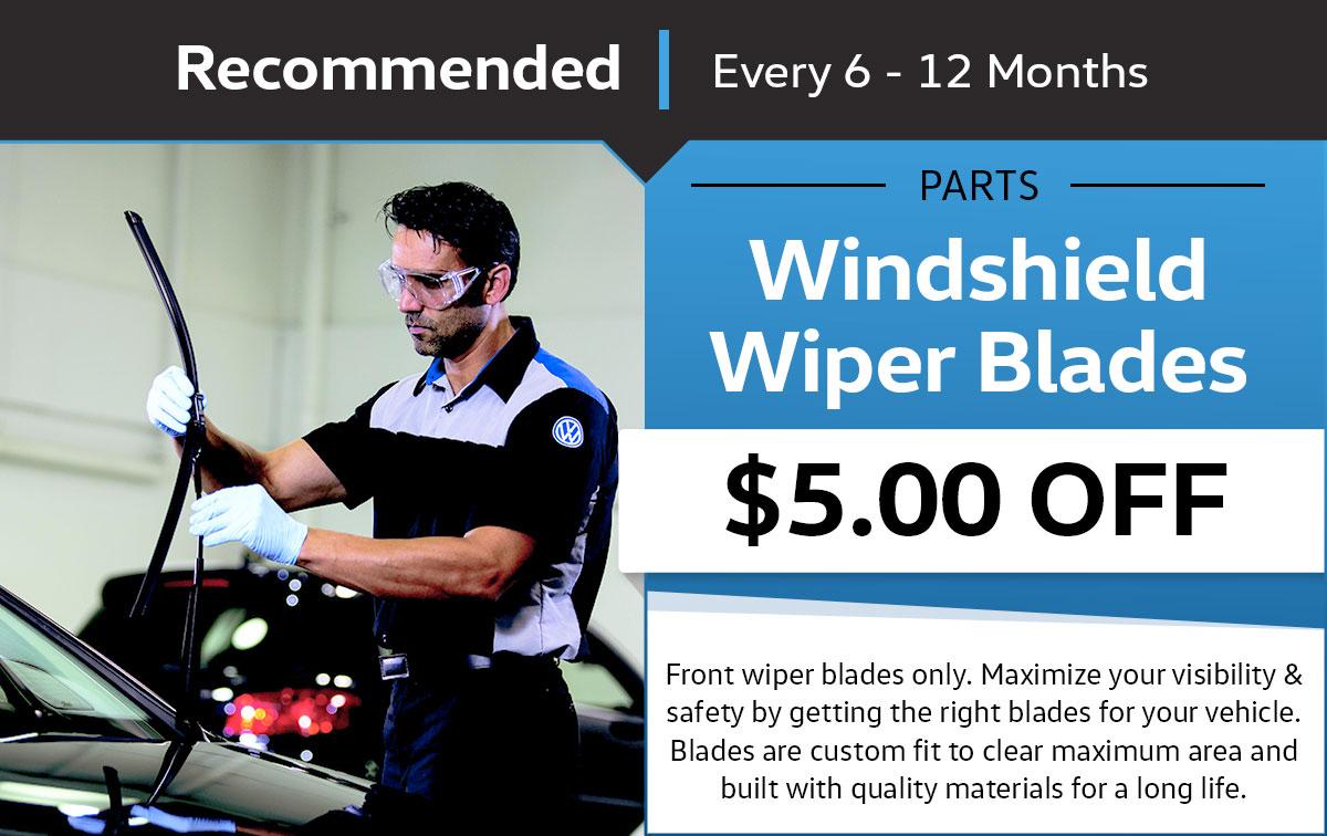 Volkswagen Wiper Blade Service Service & Parts Specials