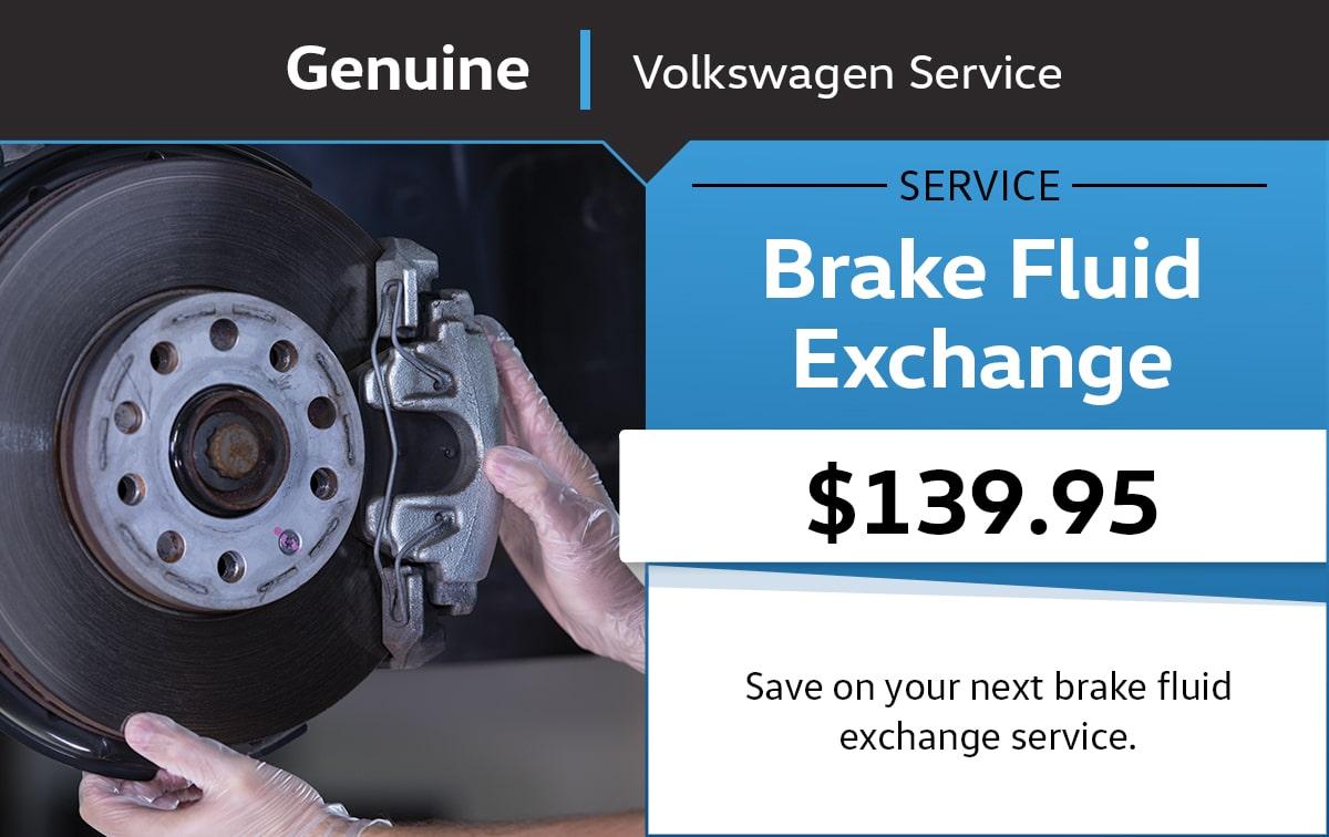 Volkswagen Brake Fluid Exchange Service & Parts Specials