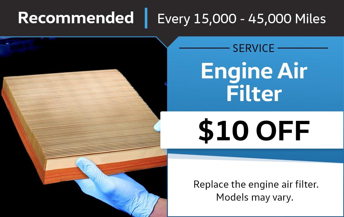 Volkswagen Engine Air Filter Service & Parts Specials
