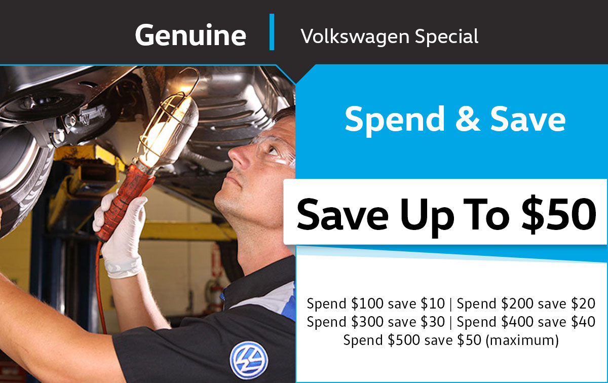 VW Spend & Save Service Special Coupon