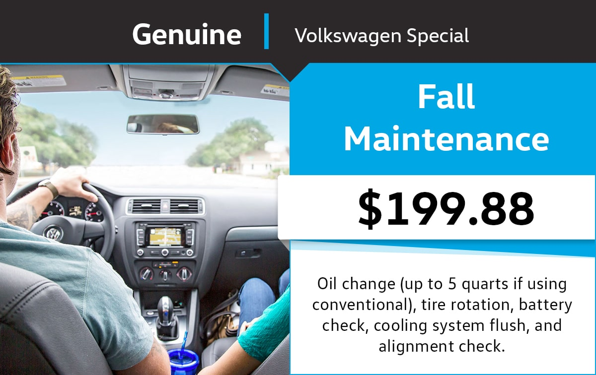 VW Fall Maintenance Special Coupon