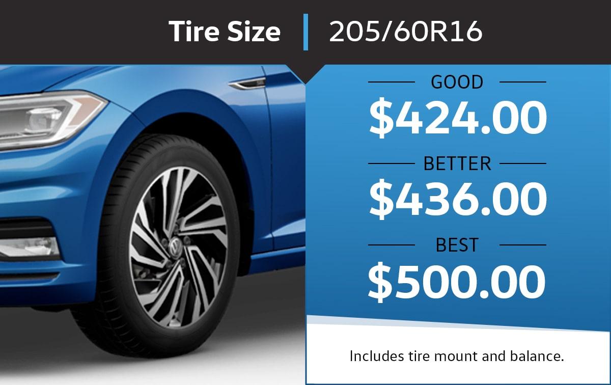 VW 2020 Jetta SE 205/60/R16 Tire Special