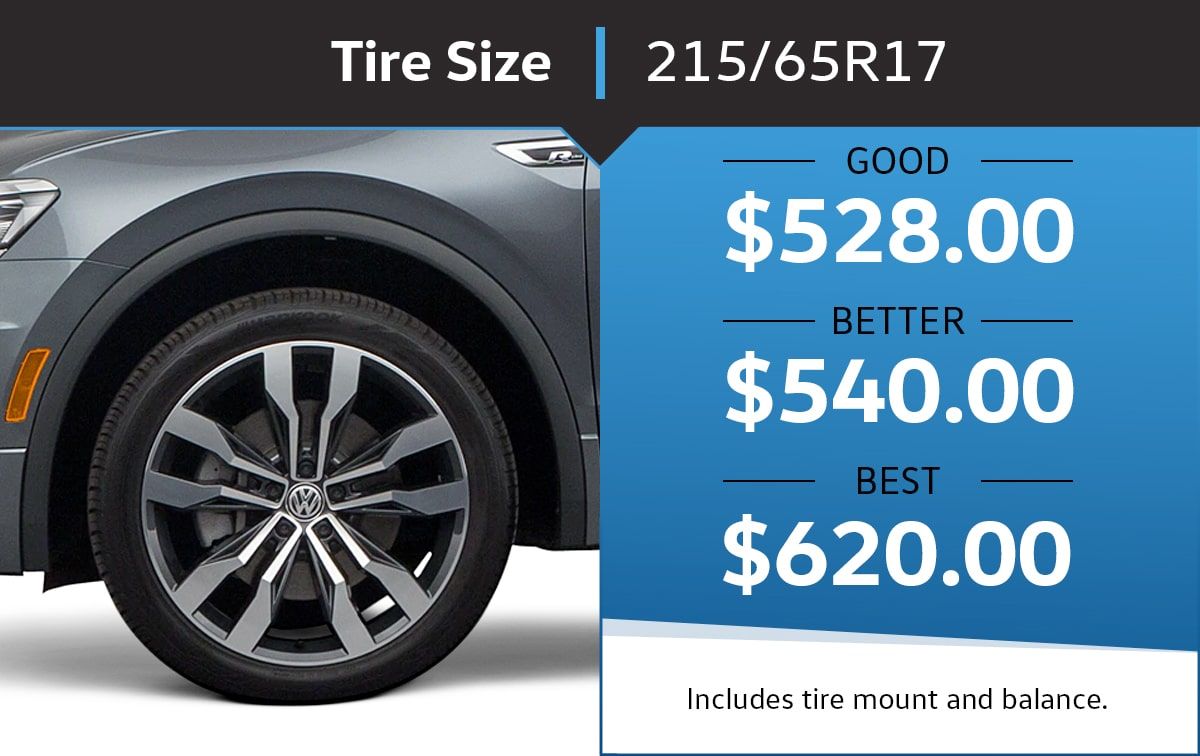 VW 2020 Tiguan SE FWD Tire Special