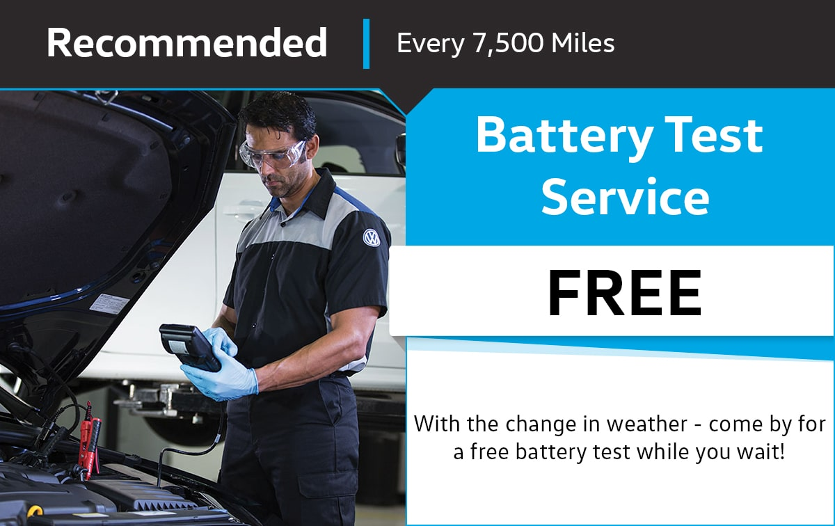 VW Battery Test Service Special Coupon