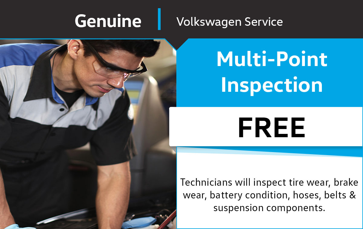 Volkswagen Multi Point Vehicle Inspection Service Special Coupon