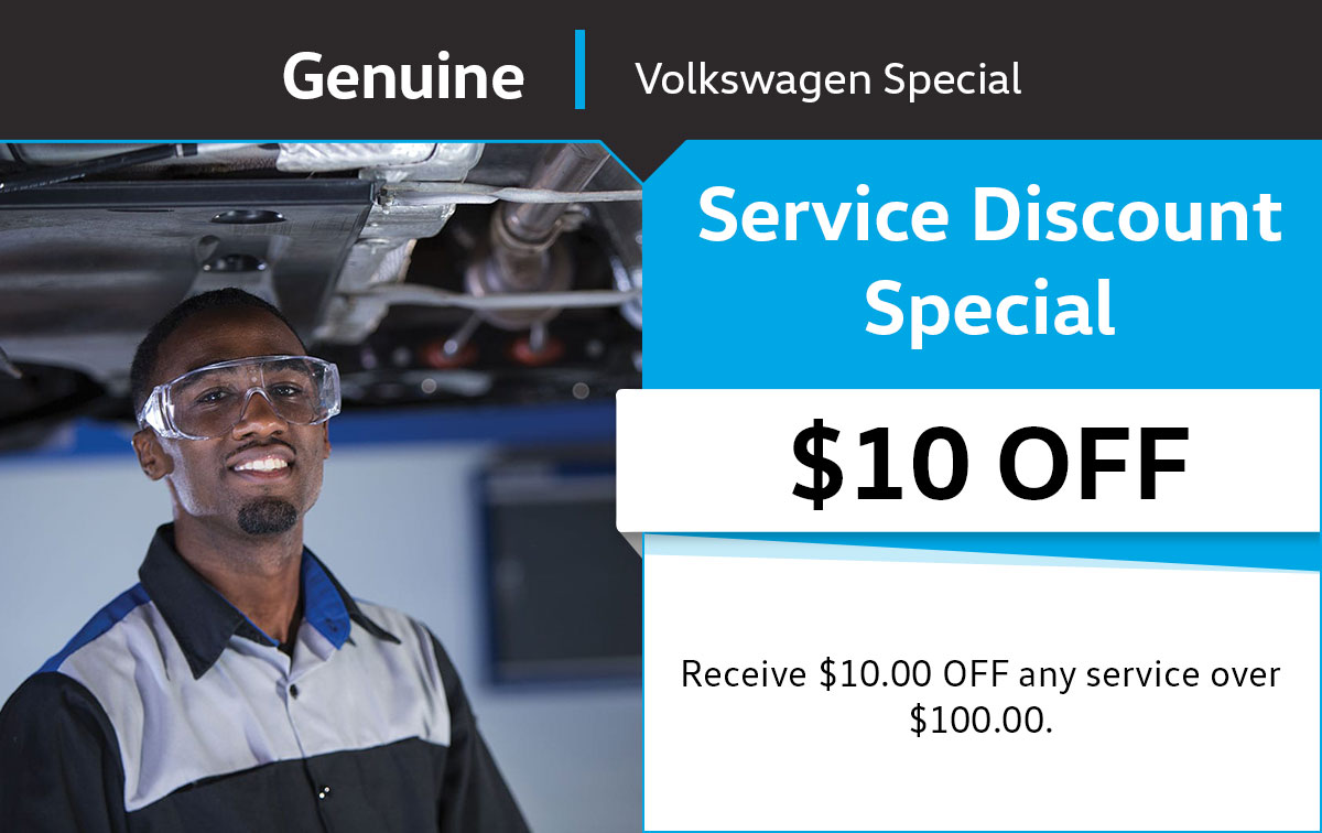 VW $10 Service Discount Special Coupon