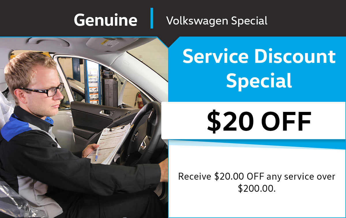 VW $20 Service Discount Special Coupon