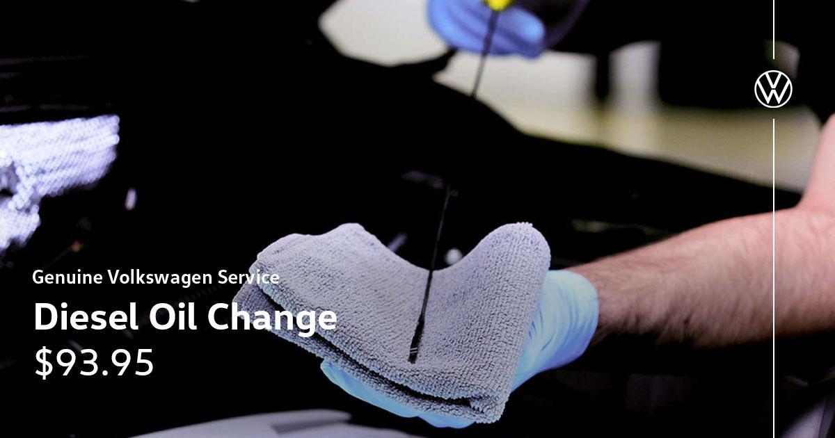 Volkswagen Diesel Oil Change Service Special Coupon