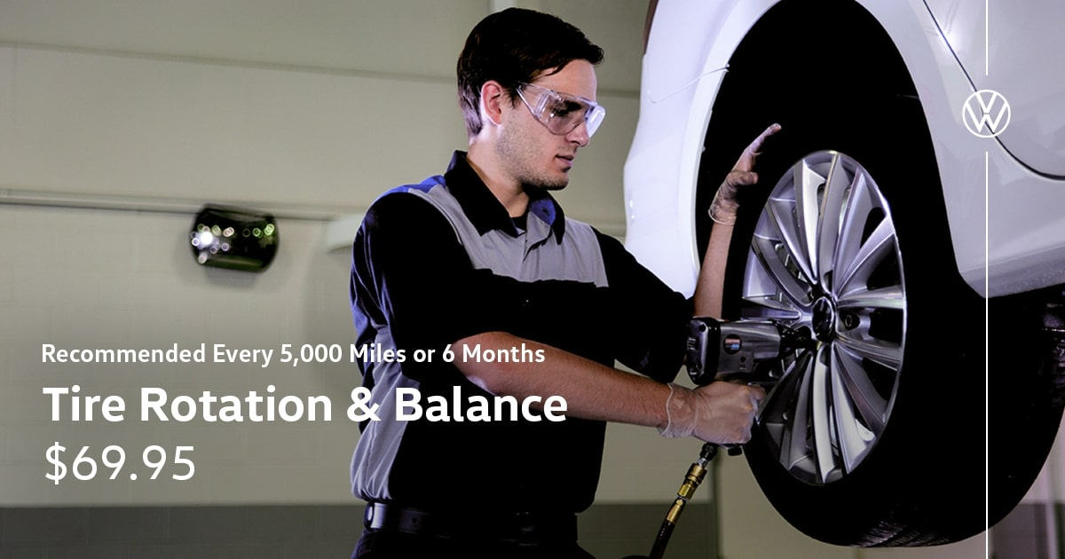 Volkswagen Tire Rotation and Balance Service Special Coupon