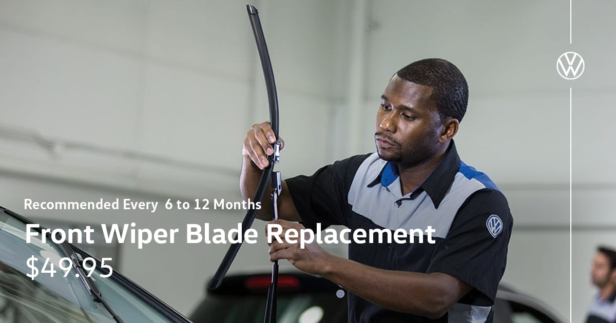 Volkswagen Front Wiper Blade Replacement Service Special Coupon