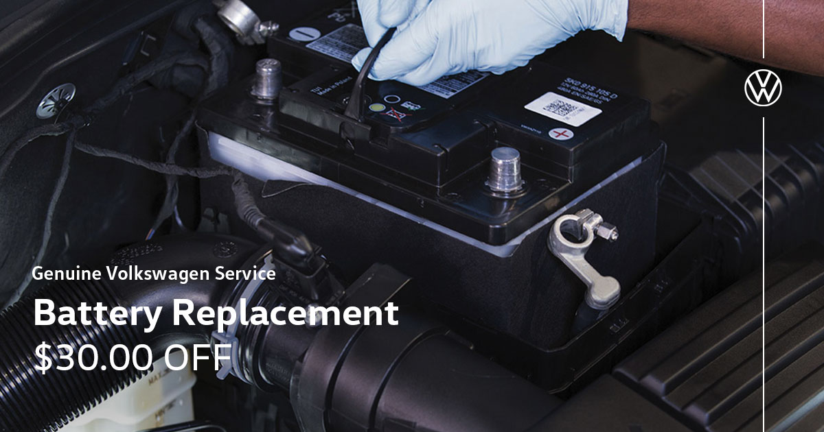 Volkswagen Battery Replacement Service Special Coupon