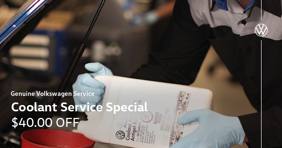 Volkswagen Coolant Service Special Coupon