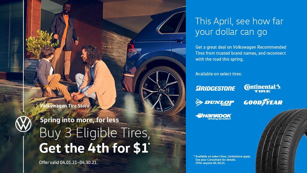 April Buy 3 Tires Promo
