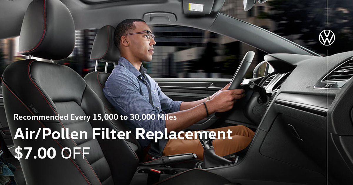 Volkswagen Air/Pollen Filter Replacement Service Special Coupon