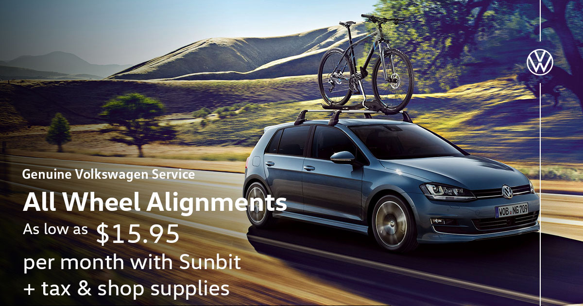 Volkswagen All Wheel Alignments Service Special Coupon