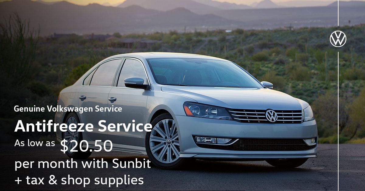 Volkswagen Antifreeze Service Special Coupon