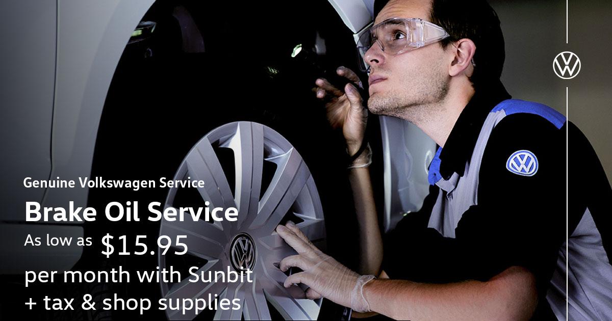 Volkswagen Brake Oil Service Special Coupon