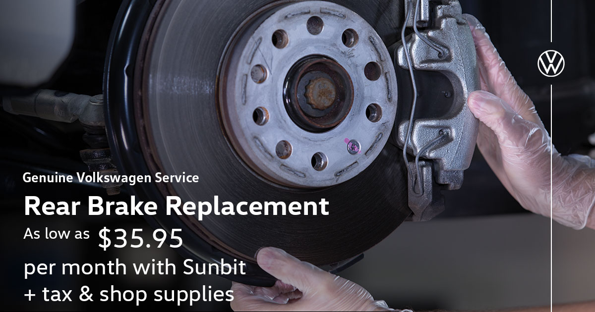 Volkswagen Rear Brake Replacement Service Special Coupon