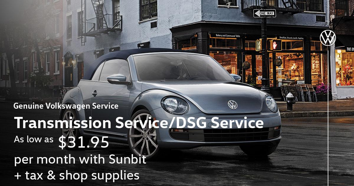 Volkswagen Transmission Service/DSG Service Special Coupon