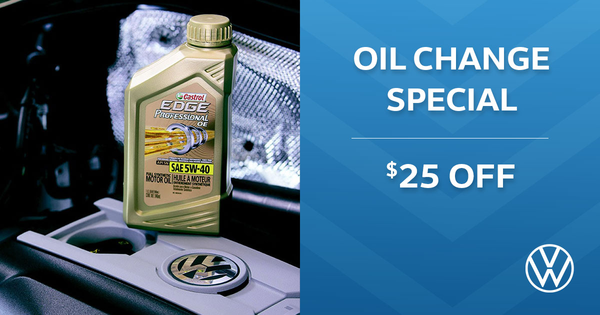 Volkswagen Oil Change Service Special Coupon