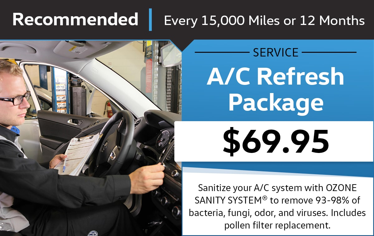 A/C Refresh Package Service Special Coupon