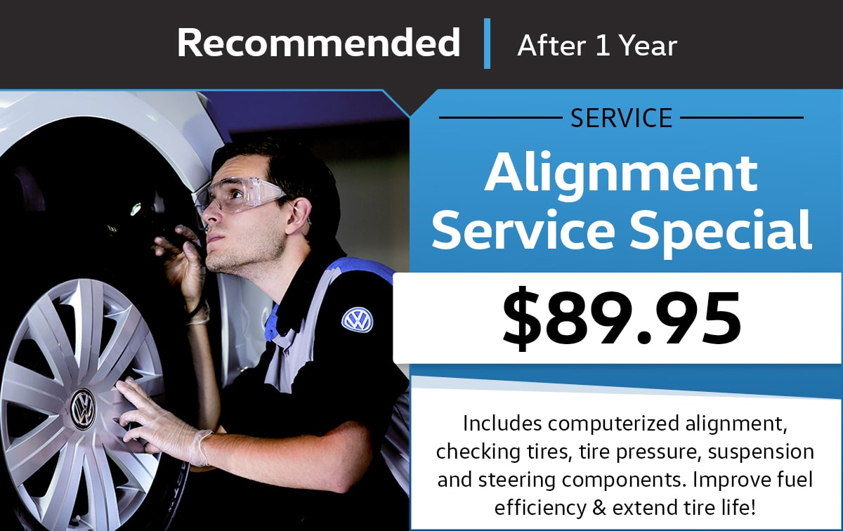 VW Alignment Service Special Coupon