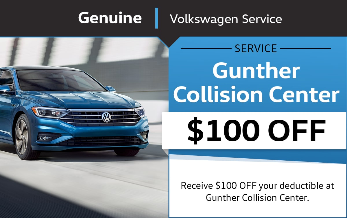 Gunther Volkswagen Collision Center Special Coupon