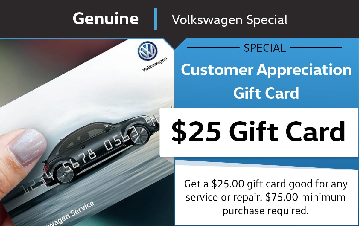 Customer Appreciation Gift Card Service Special Coupon
