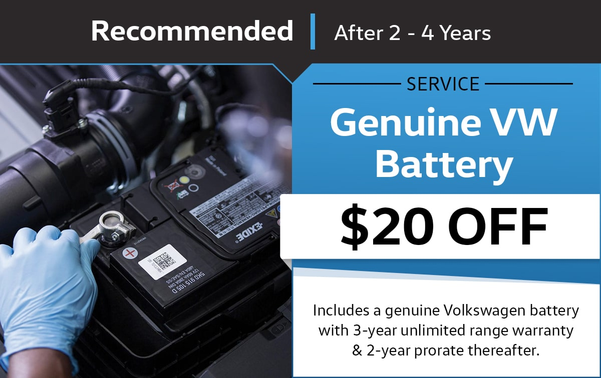 Genuine VW Battery Special Coupon