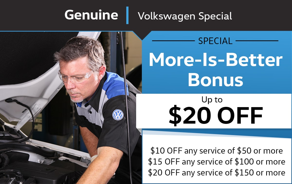 More-Is-Better Bonus Service Special Coupon