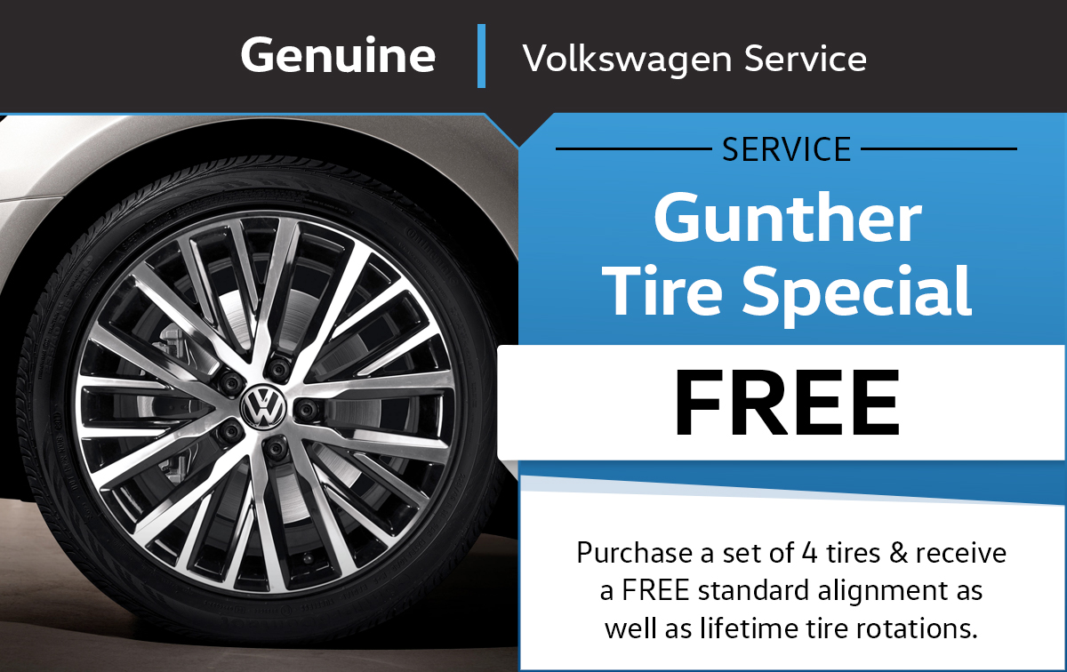Gunther VW Tire Service Special Coupon