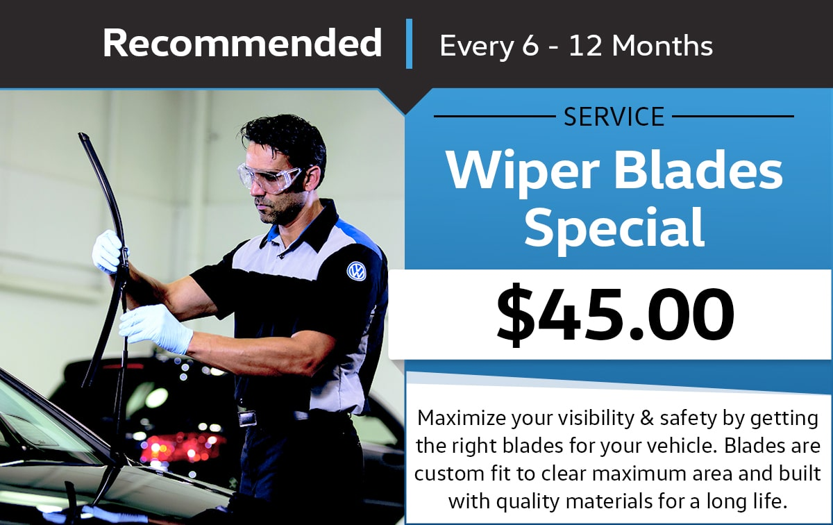 Volkswagen Wiper Blade Replacement Service Special Coupon